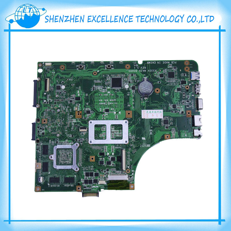 best price K53SC laptop motherboard for ASUS 4 pcs of storage 1G free shipping&top quality  for asus k52jb a52j k52jr k52je k52j 4 pcs on storage laptop motherboard rev2 3 mainboard free shipping