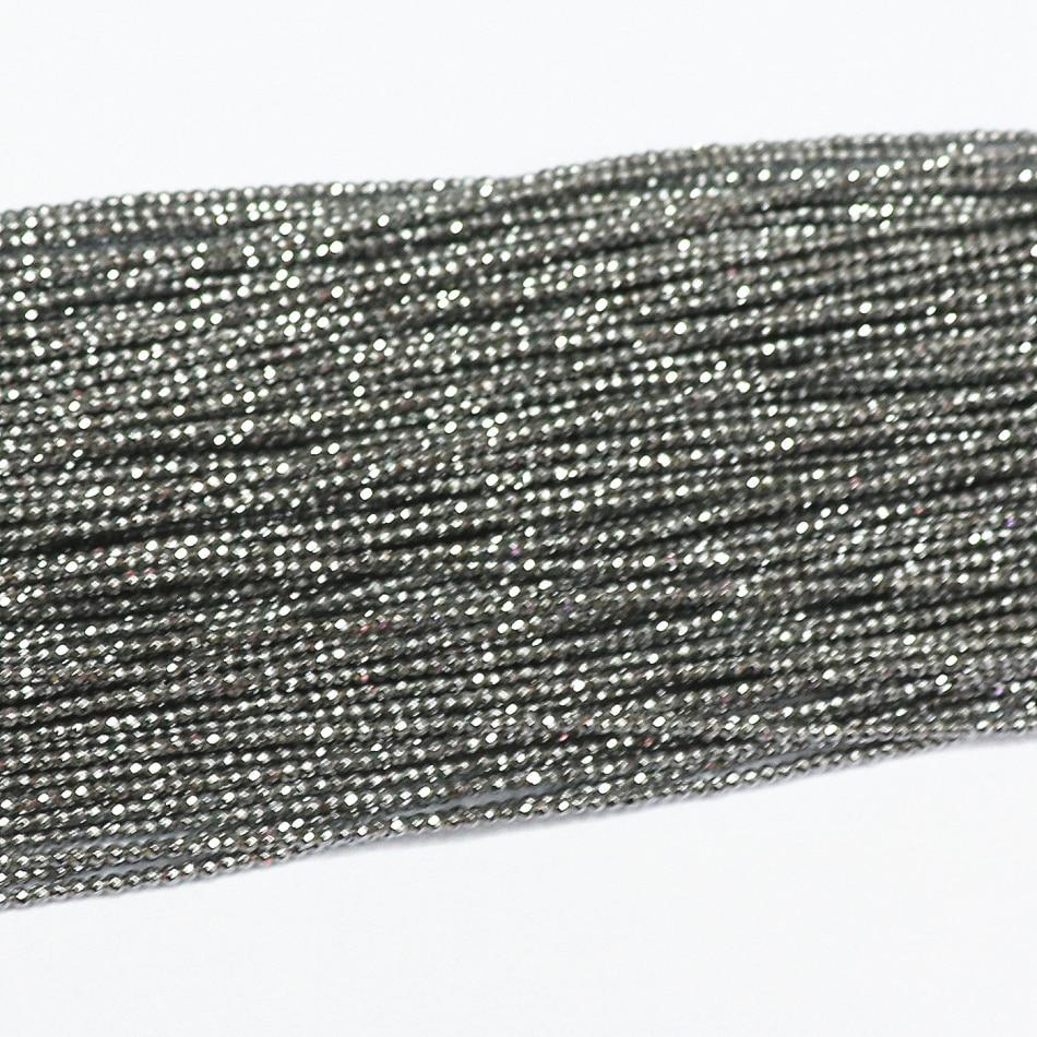 15.5 Blue Goldstone Semi-Precious Gemstone Round Beads 2mm