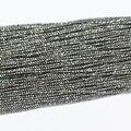 "Multisize plata piedra hematita 2mm 3mm moda natural facetadas ronda nueva joyería diy 15 ""B465"