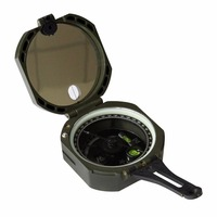 Lightweight And Durable Transit Pocket Plastic Compass For Surveyors Foresters Military Green Compass