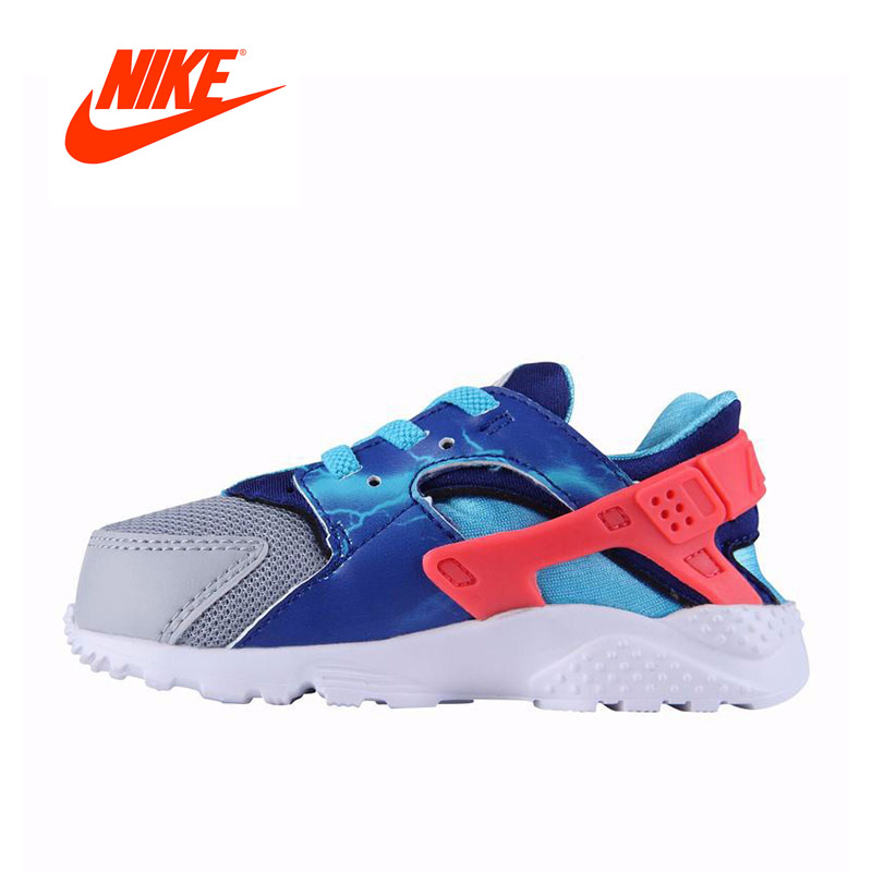 Original Anti-Slippery NIKE Kids Boys' Shoes Running Sneakers glowing sneakers usb charging shoes lights up colorful led kids luminous sneakers glowing sneakers black led shoes for boys
