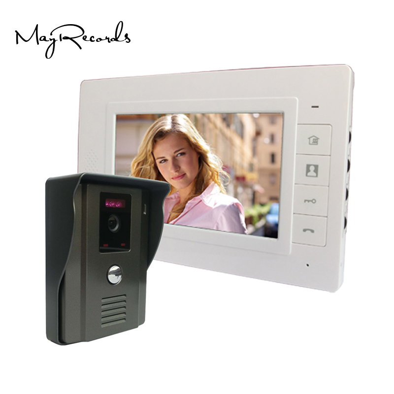 7 Color Video Door Phone Video Intercom Door Intercom Doorphone IR Night Vision Camera Doorbell Kit for Apartment 7 color video door phone video intercom door intercom doorbell kit unlock door phone with ir night vision camera for apartment