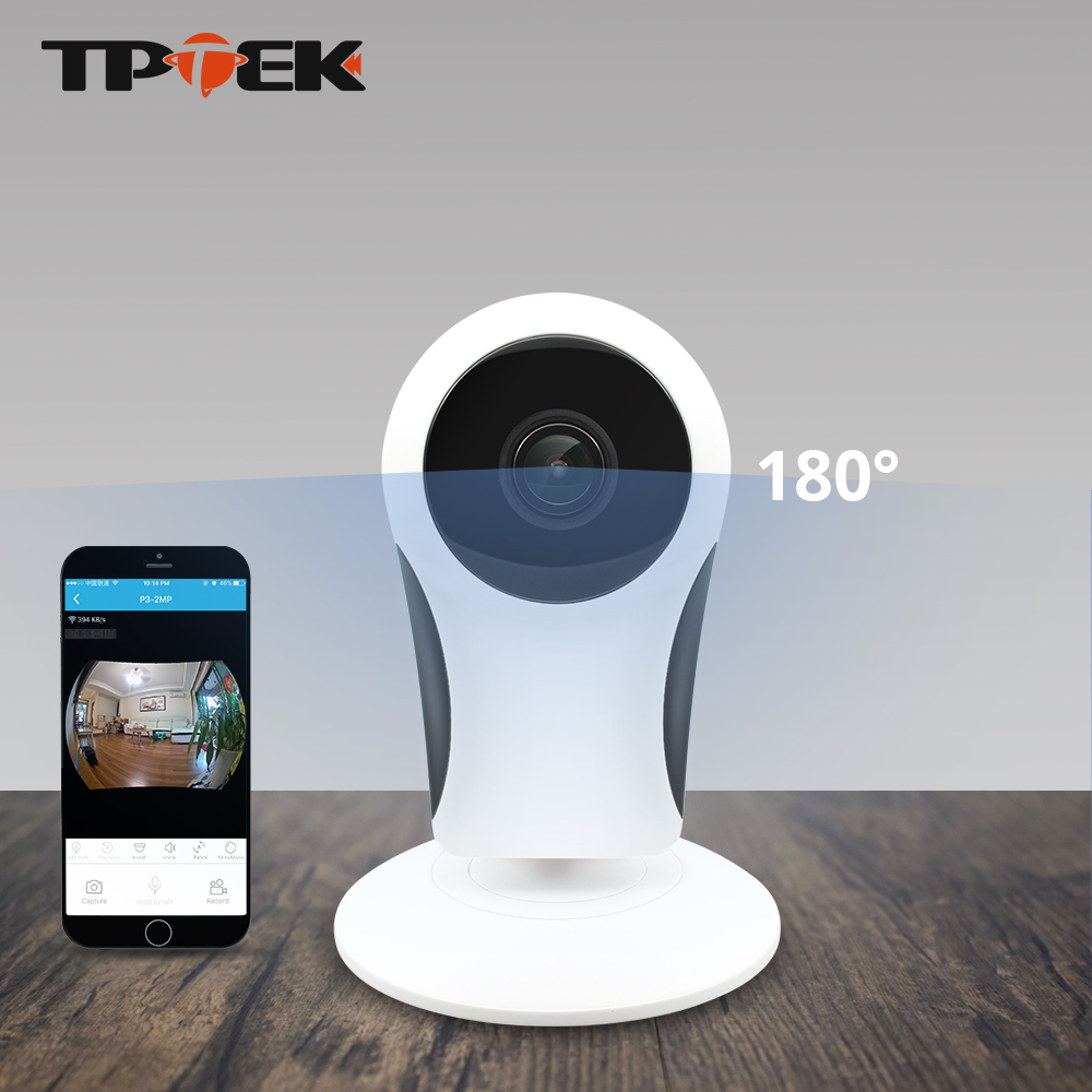 imágenes para WiFi Cámara IP Panorámica de ojo de pez de 180 Grados VR Protección WI-FI de Seguridad Cctv Wireless Home Seguridad Vigilancia Camara