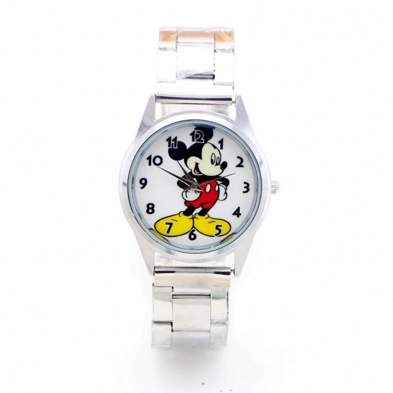 2019 New Minnie Cartoon Desgin Kids Watch Girls Stainless Steel Fashion Ladies Women Watches Relojes Montres Kol Saati