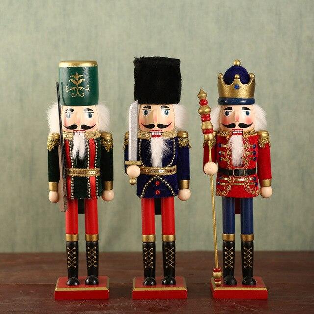 Us 2213 10 Offklassische Ornamente Geschenk 38 Cm Nussknacker Puppen Soldaten Urlaub Geburtstag In Klassische Ornamente Geschenk 38 Cm Nussknacker