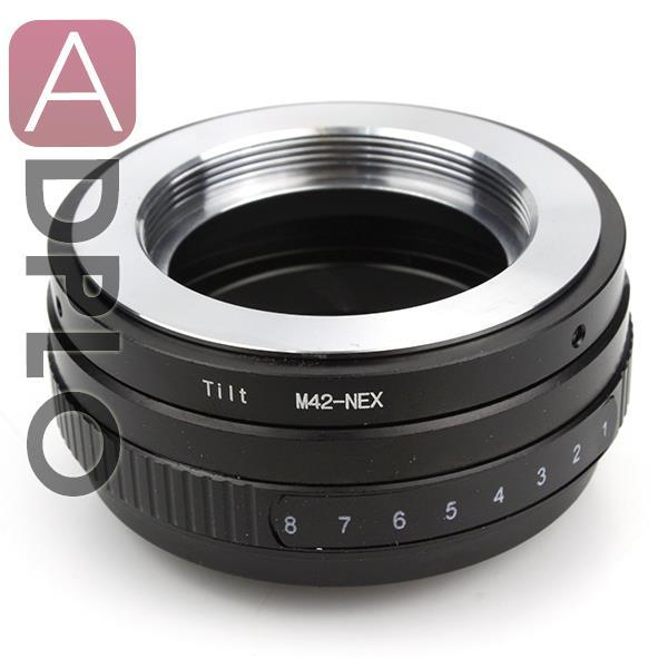 TILT 8 degree rotate 360 degree Adapter Suit For M42 Lens To NEX Camera Adapter NEX3 NEX5 NEX-5N NEX7 Camera