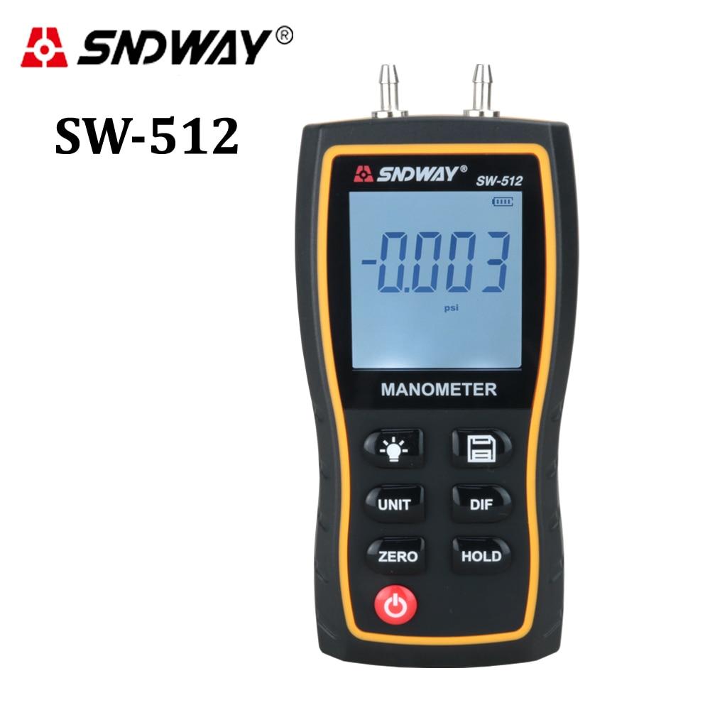 Digitale Manometro Air Pressure gauge Misuratori di Pressione Unità di Vuoto 11 differenziale di pressione del gas naturale gauge meter di misura