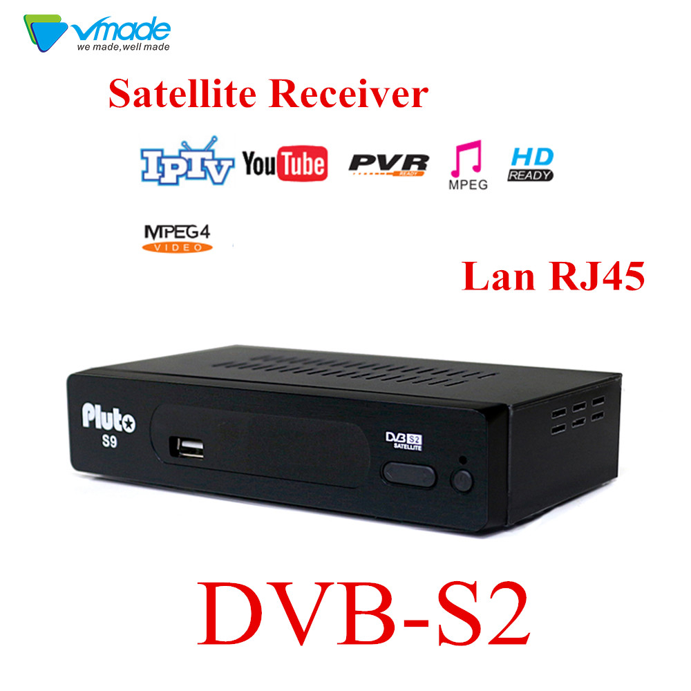 Vmade DVB S2 Fully HD Digital  Set Top Box Satellite Receiver Support lan RJ45 FTA WIFI Youtube DLNA GAMES CARD IPTV Card Reader-in Satellite TV Receiver from Consumer Electronics