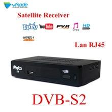 Vmade DVB S2 Fully HD Digital  Set Top Box Satellite Receiver Support lan RJ45 FTA WIFI Youtube DLNA GAMES CARD IPTV Card Reader