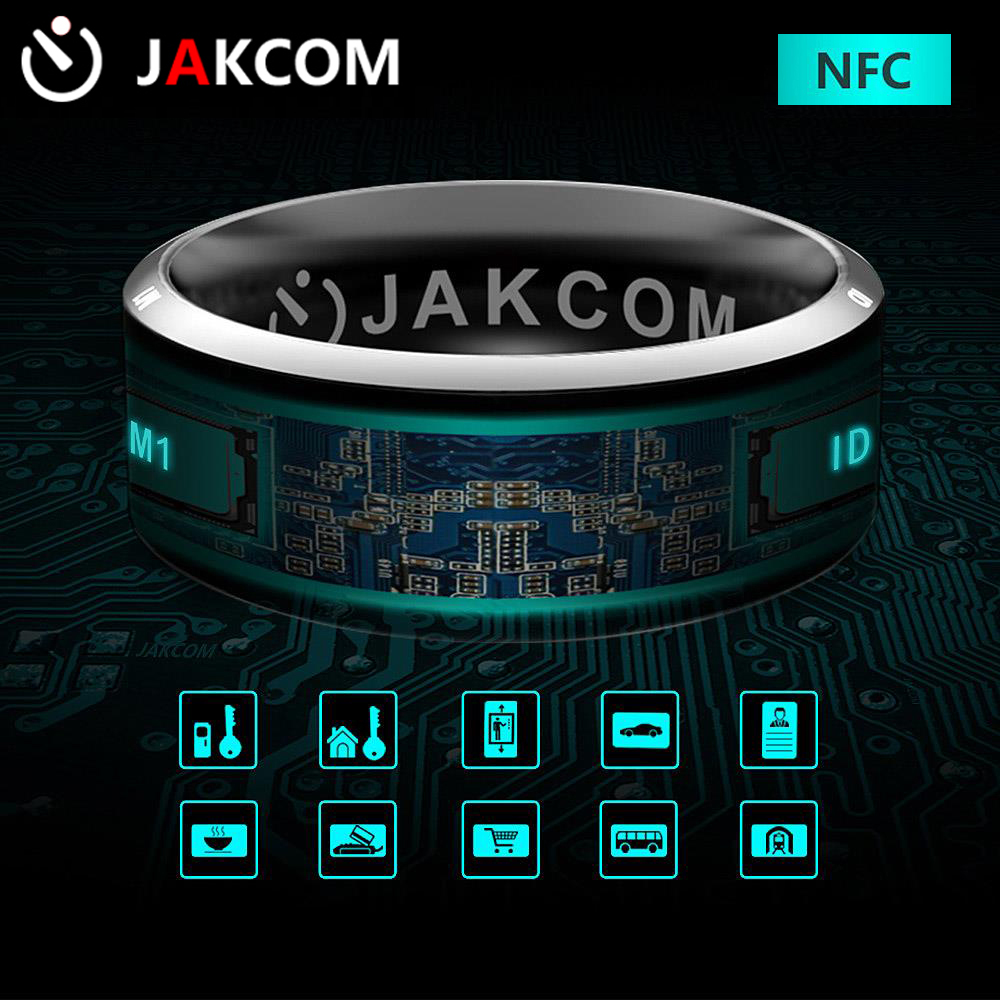 Original Jakcom R3 Smart Ring desgaste dedo mágico anillo NFC IC tarjeta de identificación para Android Windows NFC teléfono móvil anillo elegante