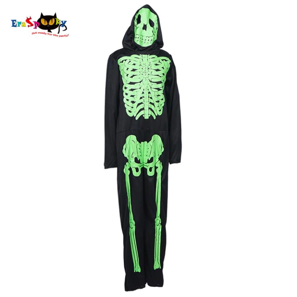 Kostym för pojkar Skelett Skrämmande Halloween Barndräkt Demon - Maskeradkläder och utklädnad