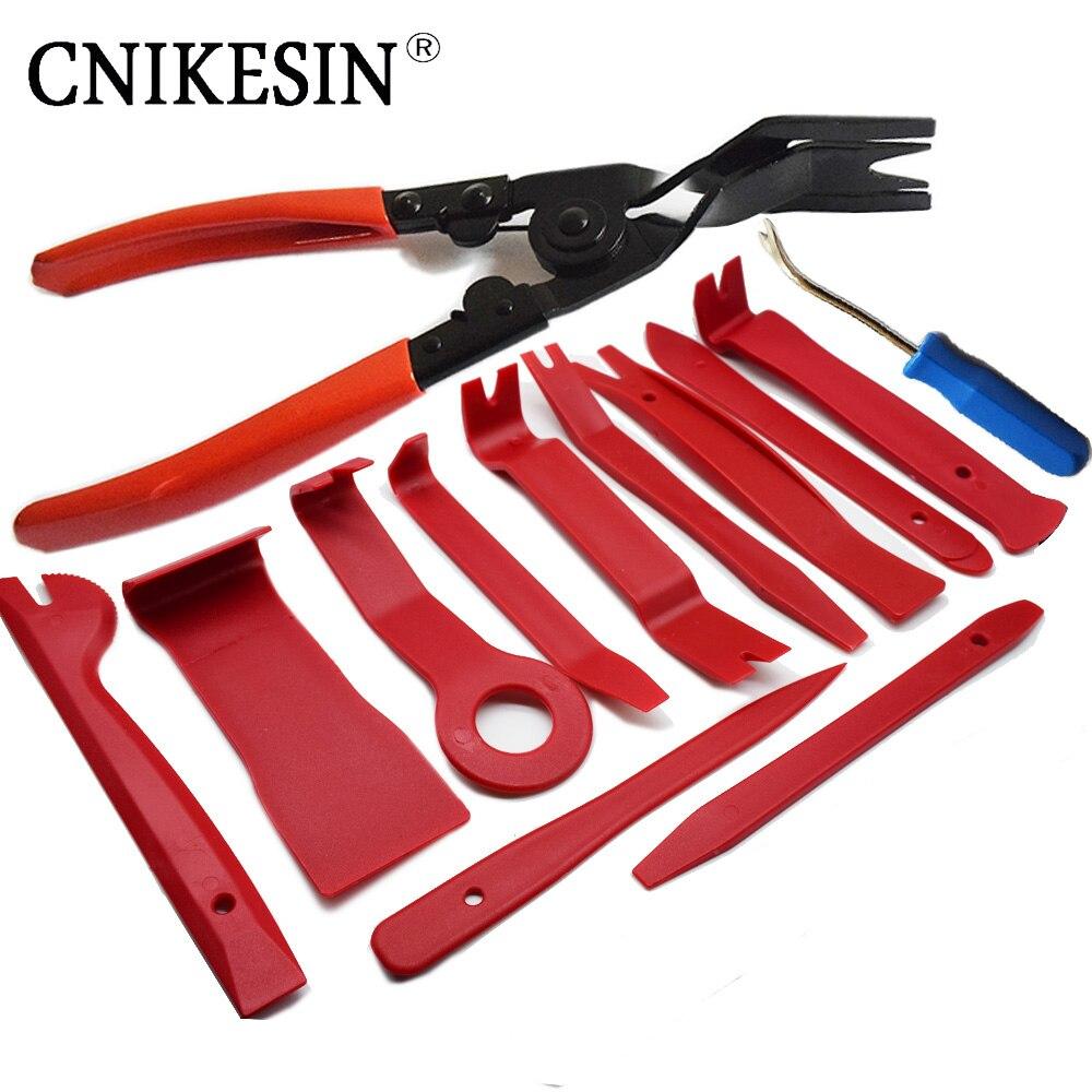 все цены на CNIKESIN Auto Fastener Tool Plastic Auto Dismantle Tools Kit Car Radio Door Clip Panel Trim Dash Audio Removal Installer Kit онлайн