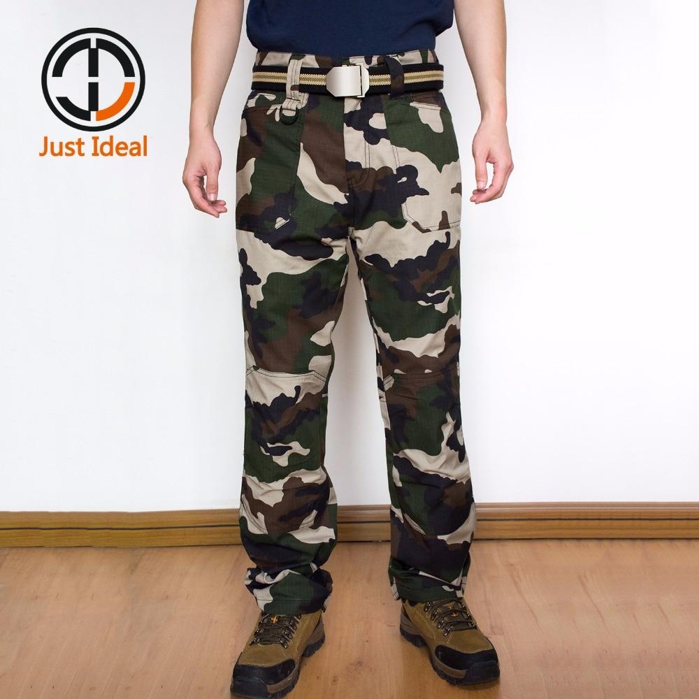 새로운 도착 남자 군사 전술 바지 위장 립 중지 군대 스타일 Mutiple Pocket Cargo Pant 남성 패션 바지 ID810