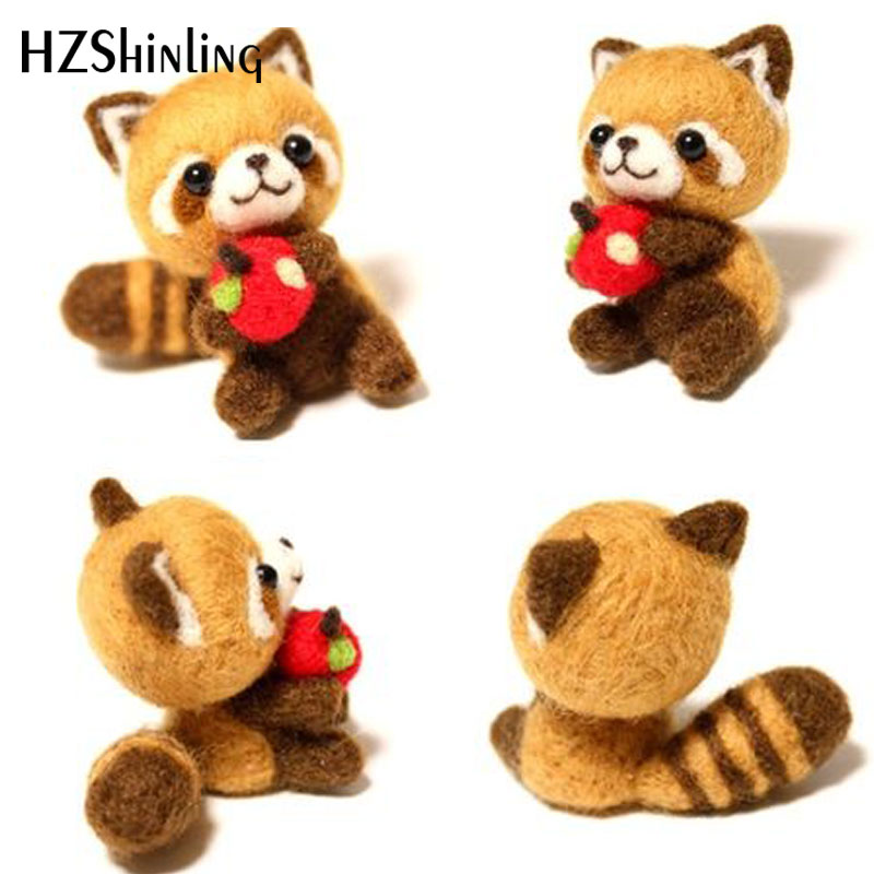 2019 Creative Cute Squirrel Toy Doll Wool Felt Poked Kitting Non-Finished Handcarft Wool Felting Material Package