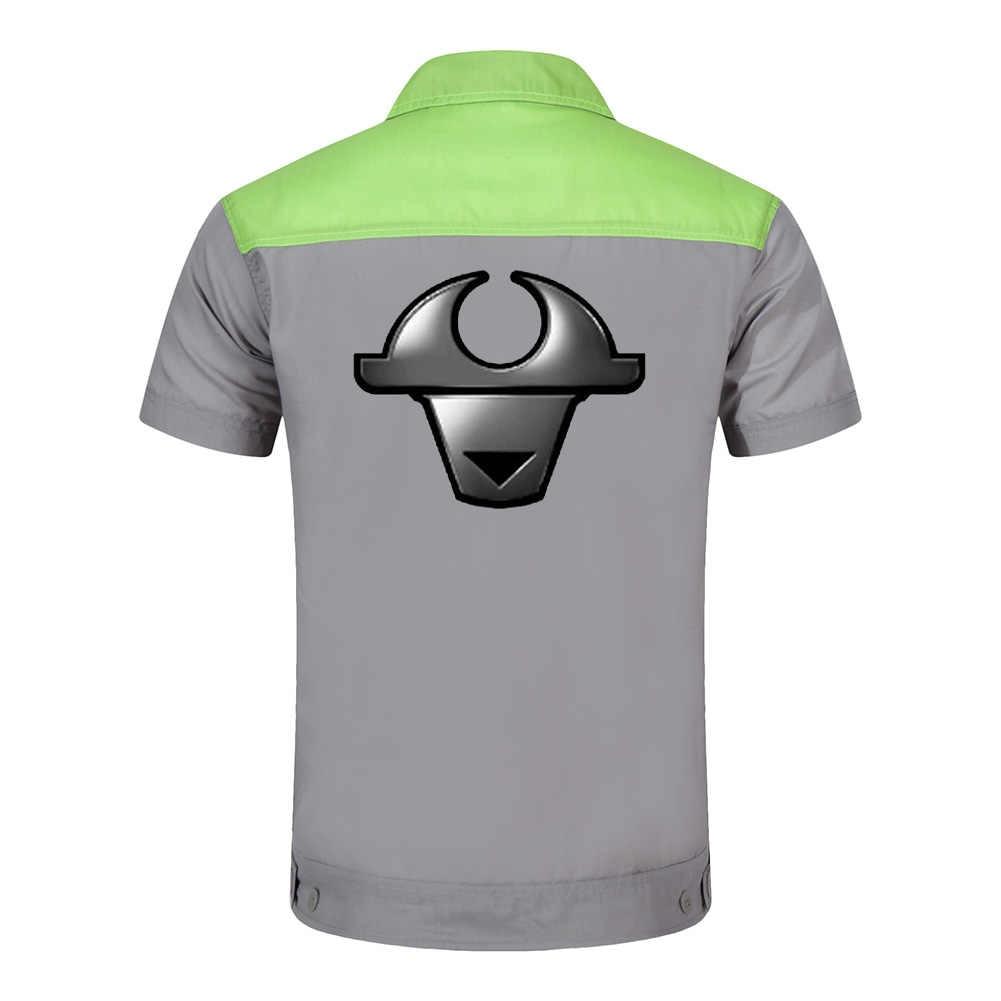 Logotipo personalizado vestuário para homens Tops e Calças de Trabalho Reparador Auto Mecânica de Alta Qualidade Vestuário Dois Bolso T-shirt