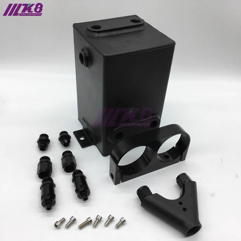 Black Fuel Tank 3L RAW Aluminum SURGE TANK Y Block Bracket FUEL PUMP DUAL EFI WITHOUT 044 FUEL PUMP цена 2016