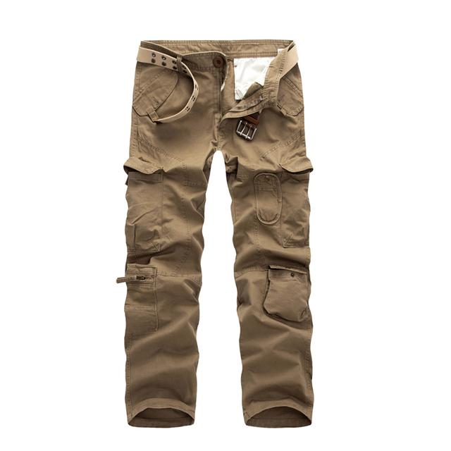 2016 outono dos homens carga calças de algodão calças casuais 28-40 CYG37