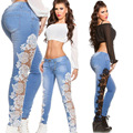Ms Jeans Sell Like Hot Cakes High Quality Lace Cultivate One's Morality Sexy Female Jeans Hollow Out A Classic Jeans