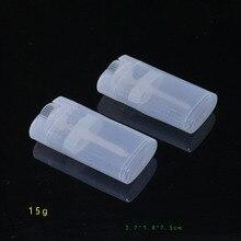 100 шт. 15 мл эллиптические PP пластиковые пустой помада трубки помады трубы DIY бальзам для губ трубы
