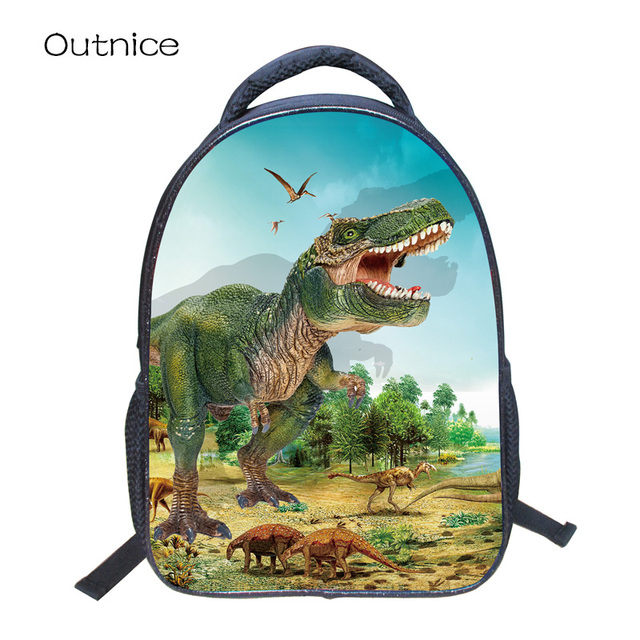 5dcd578424 OUTNICE HD Character Dinosaur Anime Cartoon Boys Children School Bag 3D  Printing Primary Students 1-3 Grade School Backpack
