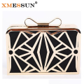 Luxury Women Handbag Evening Bags Metal Patchwork Shoulder Bag Purse 2016 New Style Party Bag Day Clutch Women Wedding Bag M184