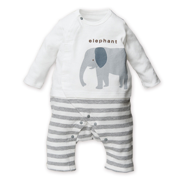HTB16KR1KFXXXXayXFXXq6xXFXXXN - 100% Cotton Baby rompers legged long sleeves baby clothing newborn cartoon Elephan Giraffe baby boy clothes girls roupas bebes