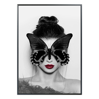 Modern Living Room Decoration Painting Realistic Butterfly Girl Modern Simple Sofa Wall Mural Wall Wall Painting