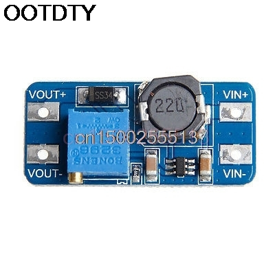MT3608 DC DC Step Up Adjustable Converter Booster Power Supply Module Output 2A 5pcs dc dc step up converter booster dc dc power supply module adapter output 2a 28v for arduino step up power board mt3608