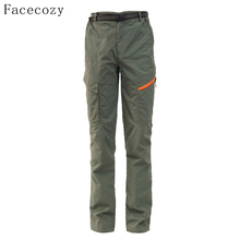 Facecozy Men Summer Outdoor HIking & Fishing Pants Quick Dry Climbing Calca Breathable UV Hunting Pesca Trousers Plus Size 4XL