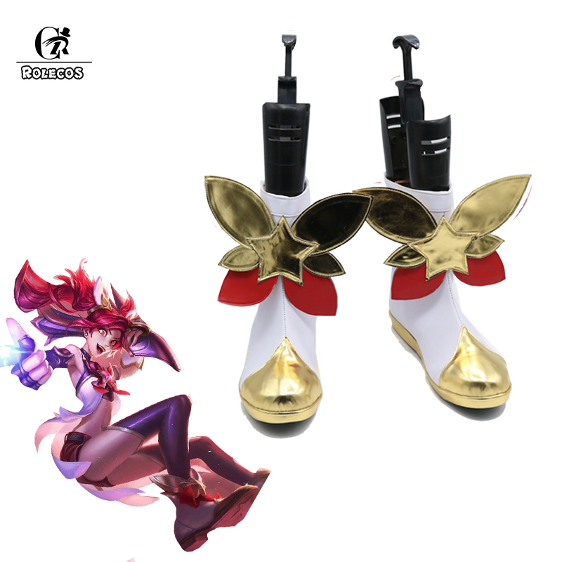 ROLECOS LOL Star Guardian Jinx Cosplay Shoes LOL Jinx Cosplay Boots Magical Girl Jinx Cos