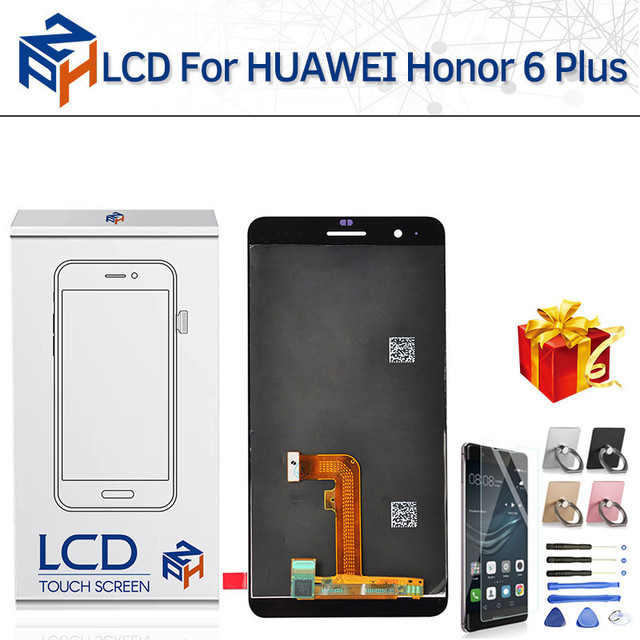 US $18 18 10% OFF 100% New Tested LCD for Huawei honor 6 plus LCD Screen  Touch Digitizer Sensor Frame Display Replacement Assembly for honor 6s -in