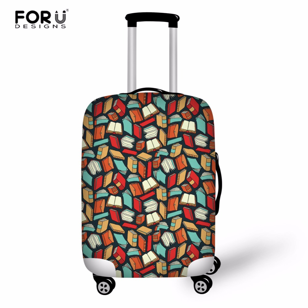 FORUDESIGNS Elastic Fabric Luggage Protective Cover Suit18-30Inch Trolley Case Book Lover Suitcase Dust Cover Travel Accessories
