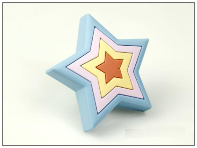 ... 10Pcs Blue Star Furniture Handles Rubber Baby Boys Girls Room Furniture  Knobs(Size:25 ...