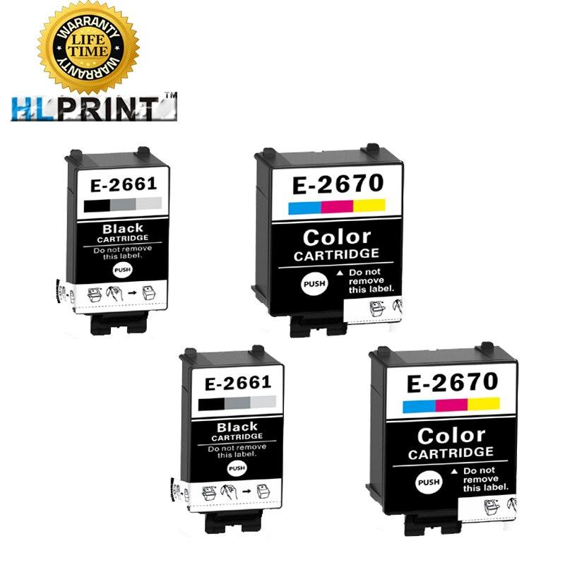 T2661 T2670 cartucho de tinta compatible para Ep WorkForce WF-100W WF100W impresora tinta de pigmento 4 piezas
