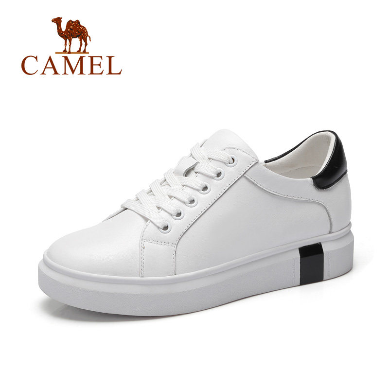 Camel New Women's White Shoes Lace-up Leisure Casual shoes
