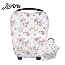 Multifunction Baby Car Seat Covers Cotton Nursing Covers Scarf for Mum Feeding Baby Protecting Infants Canopy High Chair Covers