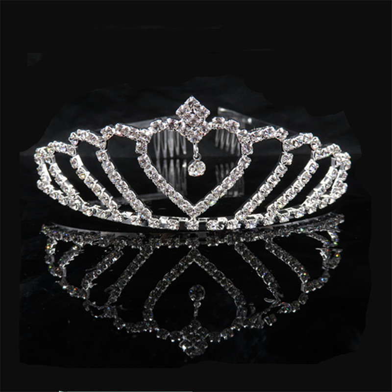 JEAE AITOTO Bridal Wedding Dress Crown Accessories Children Rhinestone Hair Ornaments Tiaras Crystal Princess