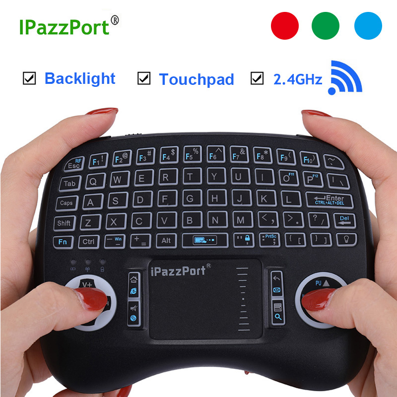 Backlight Original 2.4GHz Wireless Mini Keyboard Air Mouse + Touchpad Handheld para Laptop Smart TV Android TV BOX H96 max Mini PC
