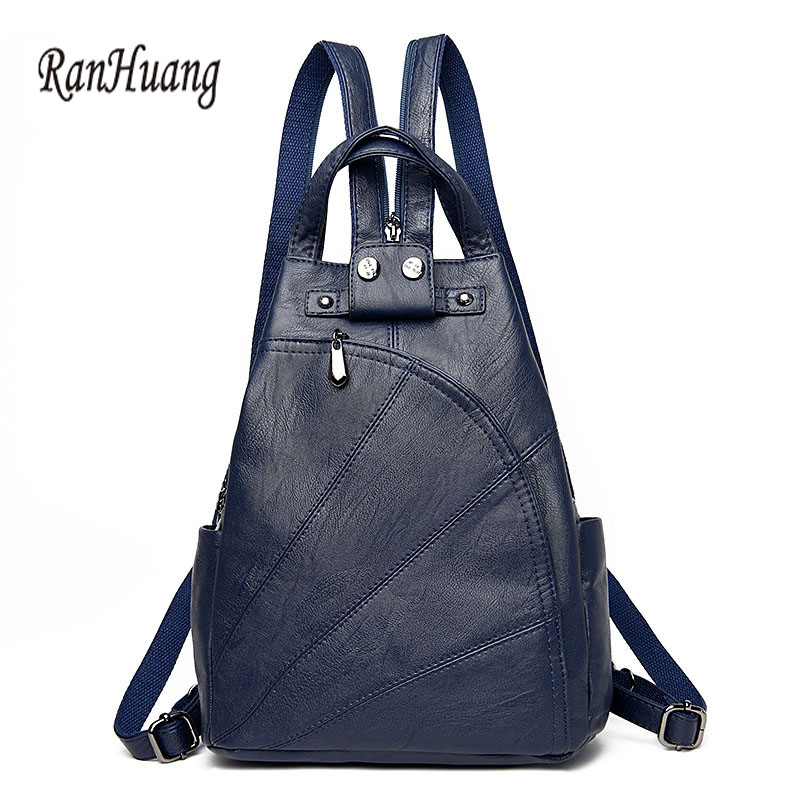 Ranhuang Brand Women Luxury Backpack High Quality Genuine Leather Backpack 2017 Women's Fashion Backpack Travel Bags Black A1006