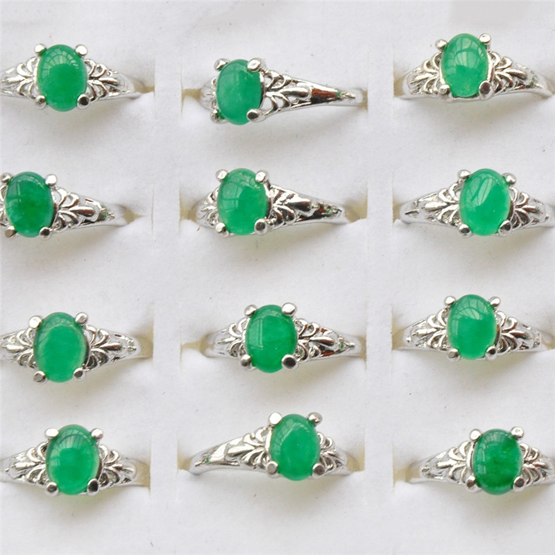 Whole Lots Jewelry 5 Pcs Pack Crystal Rings For Women Green Fake Opal Send Randomly Ring In From Accessories On Aliexpress
