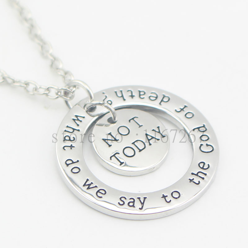 2016 hand stamped Jewelry Game of Thrones What do we say to the God of death? And Not To ...