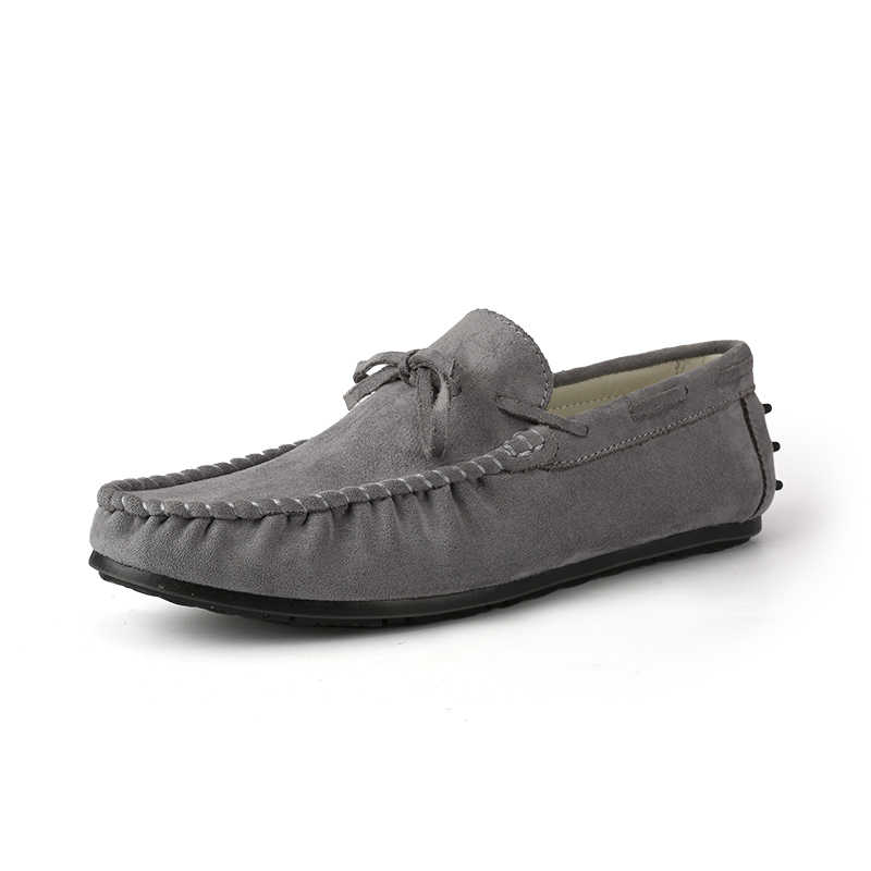 2594a3b9b5b723 ... AGSan Men Loafers Moccasins Army Green Gommino Driving Shoes Suede  Leather Loafers Men Black Classic Casual ...