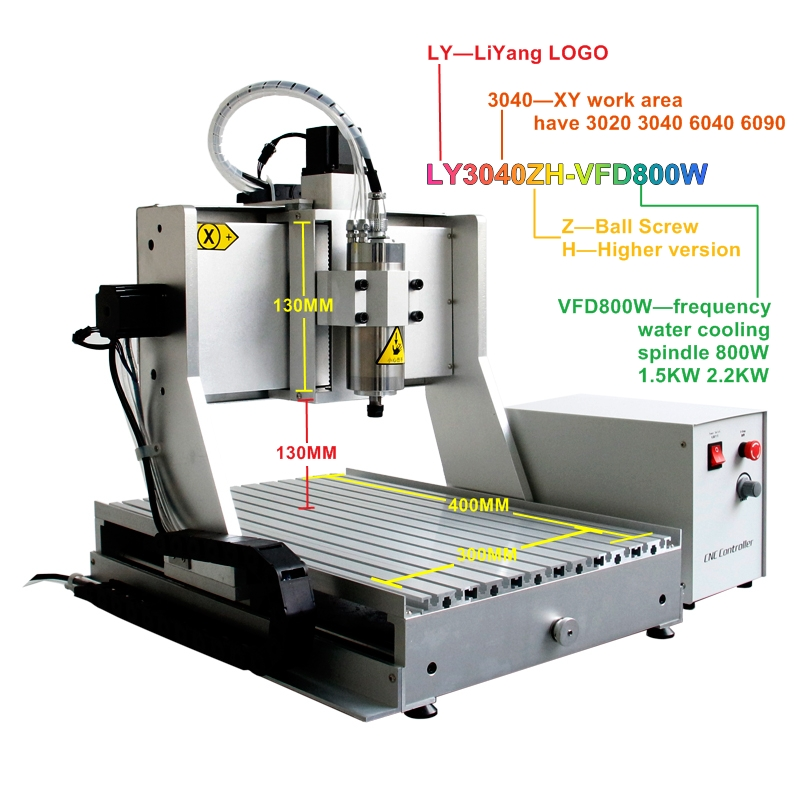 800W 4 axis cnc wood router engraver 3040ZH 3axis mini cnc engraving machine ER11 130mm Acceptable material thickness european quality jinan acctek high quality 4 axis cnc engraver wood router