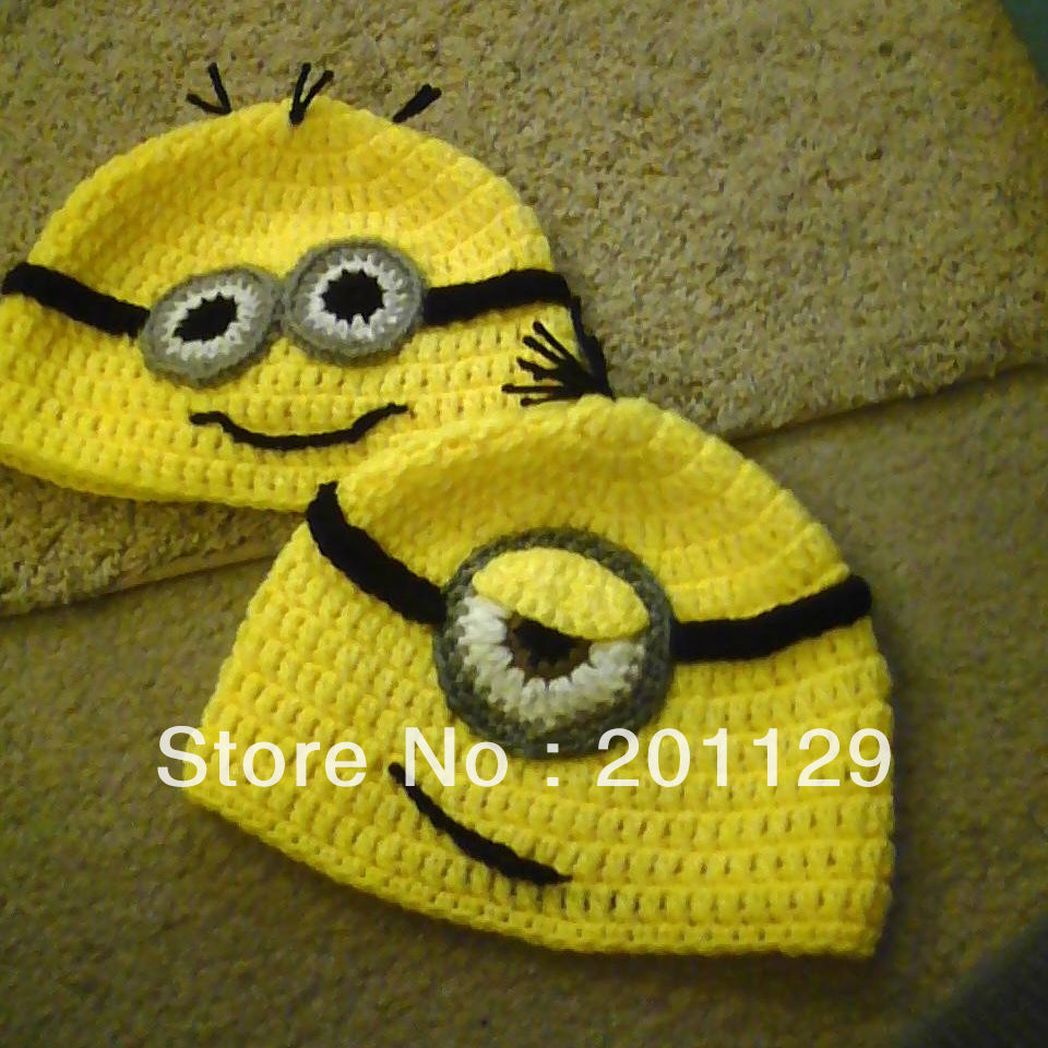 Minion New 2015 Handmade Crochet Newborn Baby Despicable Me Hat ...