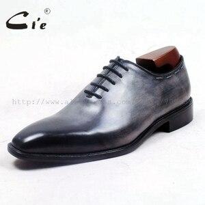 Image 2 - Cie vierkante vlakte teen hele cut patina grijs 100% echt kalfsleer zool ademende mannen schoen bespoke lederen mannen schoen ox509