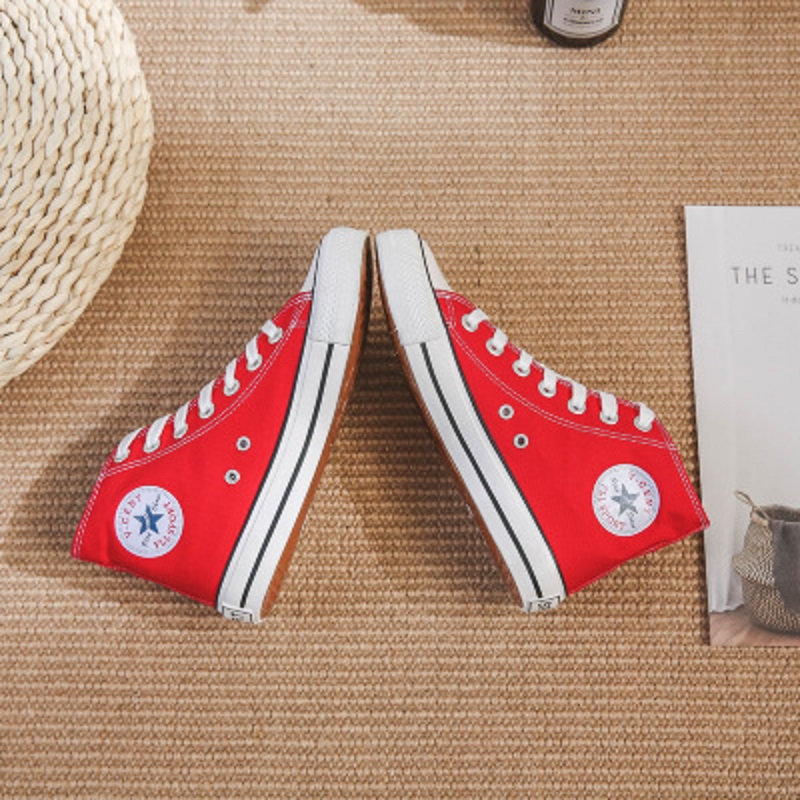 2019 explosion models classic high top canvas shoes women 39 s casual shoes fashion trend street Hong Kong tide shoes white shoes in Women 39 s Flats from Shoes
