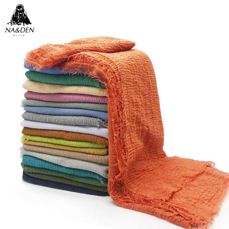 New design bubble plain scarf scarves fringes women solid hijabs popular muffler shawls pashmina muslim wraps