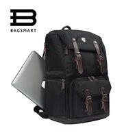 BAGSMART Для мужчин рюкзак холст и кожа рюкзак водонепроницаемый Камера сумка NATIONAL GEOGRAPHIC NG5070 Камера рюкзак черный дорожная сумка