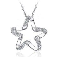 Romantic Glittering Star Shaped Silver Pendant