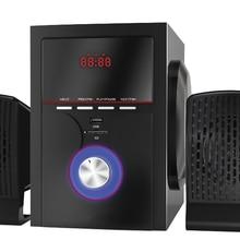 2,1 bluetooth Сабвуфер Музыка Фильмы Мультимедиа ПК игровые системы AUX USB 2,1 звуковая коробка бас динамик s беспроводной динамик
